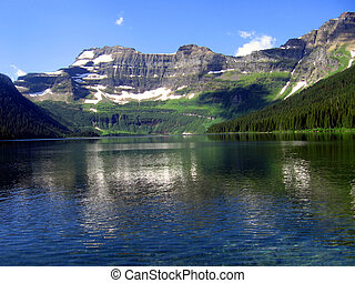 Mountain Lake - Scenic view of a lake and mountain