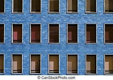 Blue block windows - Office windows in Helsinki