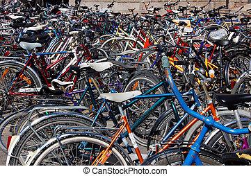 Bicycles - Bike stand in Helsinki