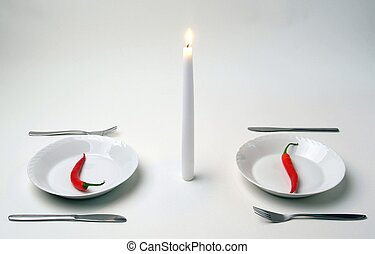 candlelight dinner for very hot people