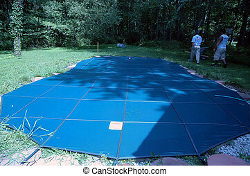 pool cover installation - installation of pool cover