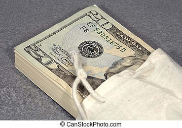 saco, Dinheiro
