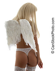 lingerie angel - blond girl with angel wings