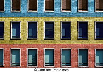 Color levels - Office windows in Helsinki