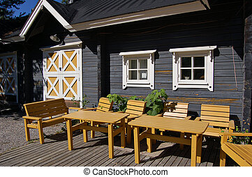 Finnish patio - Finnish wooden lifestyle
