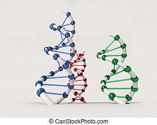 DNA structure over the white