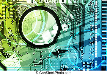 Hi-Tech Background - Hi-Tech Abstract Background. Great as a...
