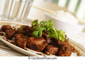 Spare ribs - Pork spare ribs cooked with green pepper in...