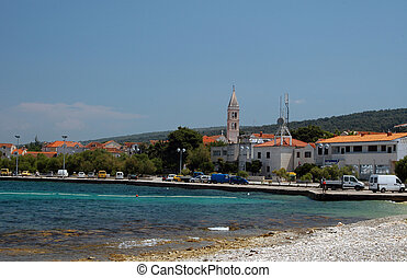 supetar hvar croatia - harbor town of supetar broc island...