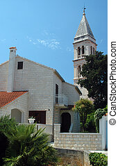 church and architecture croatia - typical residence and...