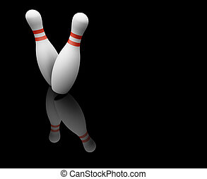 Bowling skittles - 3D render of bowling skittles