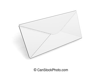 Blank envelope - 3D render of a blank envelope
