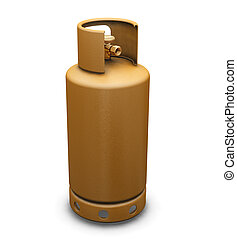 Propane gas - 3D render of a propane gas bottle