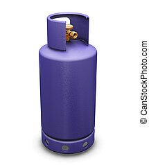 Butane gas - 3D render of a butane gas bottle
