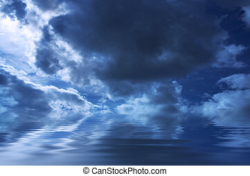 gloomy weather background - sky storms sky with waterspecial...