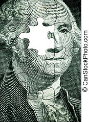 Washington puzzle - USA president puzzleno left eye,made...
