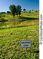 Dropping Zone - Golf dropping zone