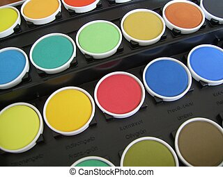 a painting set - a colored painting set