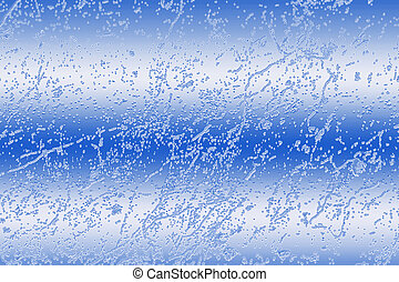 Abstract Ice Blue - Abstract of ice particles with...