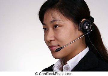 Asian Support Person - Asian female support person.