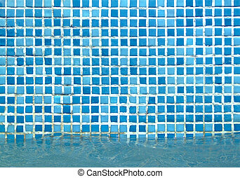 Pool side - Texture of tiles on a pool wall