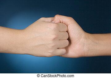 hands show help