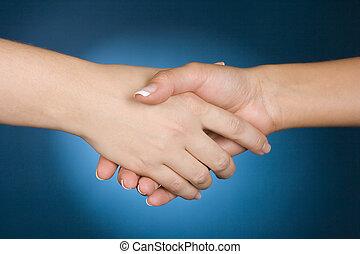 handshake - woman\\\'s handshake