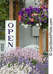 Open sign - Lavender farm in Washington