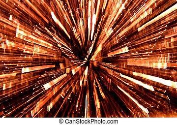 Light Blur - Blur of golden light against a dark background