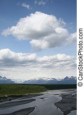 Mount McKinley - view of Denali National park with Mt....