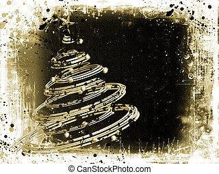 Grunge Christmas tree background