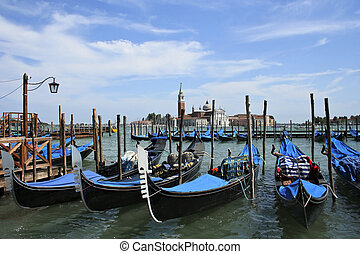 Venice - Venetian vista with gondolas