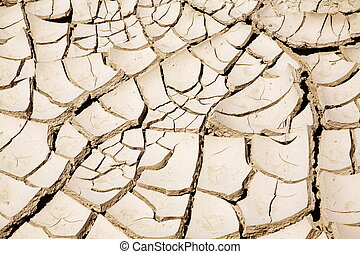 Cracked ground - Close up of cracked ground in the desert