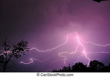 Lightning storm in Missouri