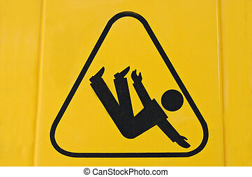 Slippy - Sign warning of slippery floor