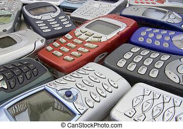 viejo, móvil, teléfonos, 2