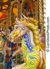 Carousel horse - Brightly painted wooden horse called Gemma...