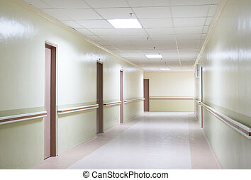 Hallway - Photo of a Hospital Hallway