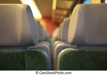 Regensburg #61 - Interior of a bus.  Shallow D.O.F