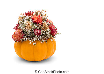 Fall Floral - A fall floral display of dried flowers and a...