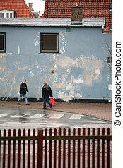 street walker - walking in a street in denmark