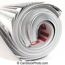 mag - rolled up magazine