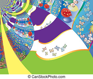 Abstract Illustration - Joyful