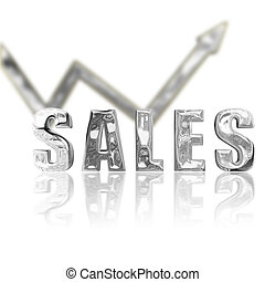 Platinum Sales Up & Up - Platinum rendered sales lgraphic...