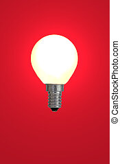 Red bulb Use it for concepts