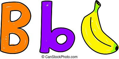 B is for banana - learning the alphabet and sounds