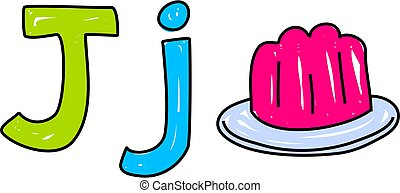 J is for jelly - learning the alphabet