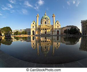 St Charles Cathedral in Vienna - St Charles Cathedral...