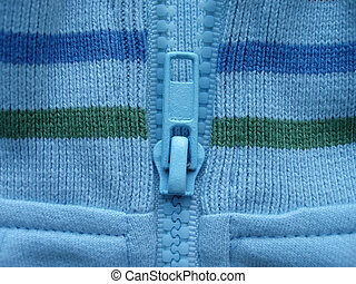 blue pullover - Close-up of blue pullover with stripes and...