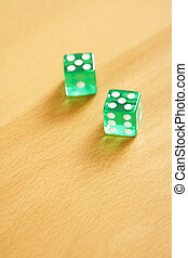 Dice - Two dice on table